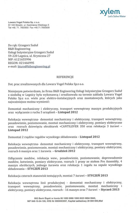 Lowara Vogel Polska Sp. z o.o.